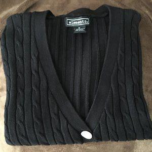 Black Boyfriend Cardigan Sweater